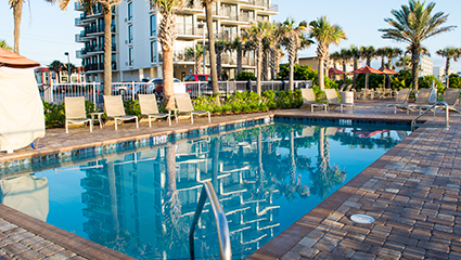 Nautilus Inn on Daytona Beach Swimming Pool Area