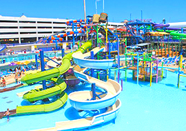 colorful view of Daytona Beach Lagoon Water Park