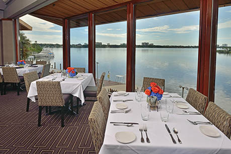 restaurant view of waterway